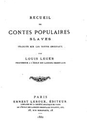Vol 5: Recueil de contes populaires slaves, traduits sur les textes originaux