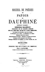 Recueil de poésies en patois du Dauphiné: comprenant notamment Grenoblo ...