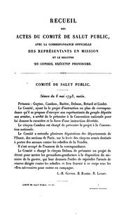 Vol 4: Recueil des actes du Comité de salut public : avec la correspondance officielle des représentants en mission et le registre du Conseil exécutif provisoire