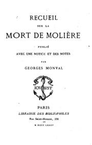 Recueil sur la mort de Molière
