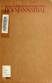 Rede über Hofmannsthal; öffentlich gehalten am 8. Sept. 1902 zu Göttingen, Instaurando Restaurat