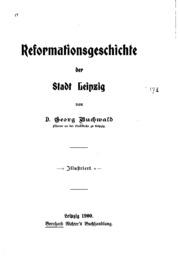 Reformationsgeschichte der Stadt Leipzig
