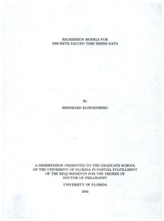 regression models dissertation Efficient inference in general semiparametric regression models a dissertation by arnab maity submitted to the office of graduate studies of.