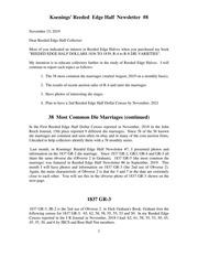 Koenings' Reeded Edge Half Newsletter (#8)