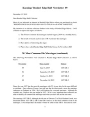 Koenings' Reeded Edge Half Newsletter (#9)
