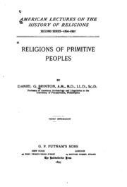 understanding of primitive religion Animistic beliefs were first competently surveyed by sir edward burnett tylor in his work primitive understanding of religion religions, when animism.