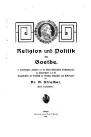 Religion und Politik bei Goethe...