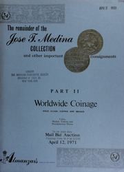 The remainder of the Jose T. Medina collection and other important consignments. [04/12/1971]