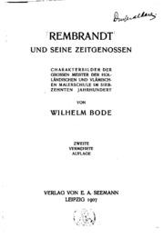 Rembrandt und seine Zeitgenossen: Charakterbilder der grossen Meister der ...