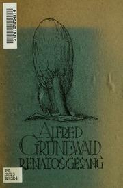Renatos Gesang : ein Buch der Einsamkeit