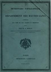 Répertoire topographique du département des Hautes-Alpes