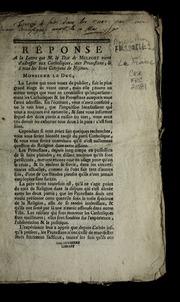 Réponse a la lettre que M. le duc de Melfort vient d'adresser aux catholiques, aux protestans, & à tous les bons citoyens de Nismes.