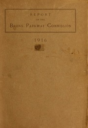 Report of the Bronx Parkway...
