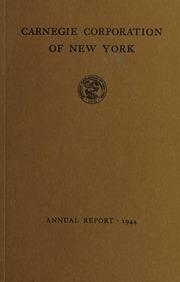Annual Report, 1944