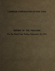 3 Report of the Treasurer, 1914