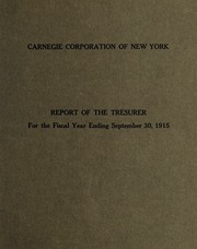 3 Report of the Treasurer, 1915