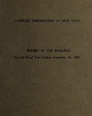 3 Report of the Treasurer, 1916