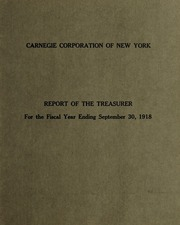 3 Report of the Treasurer, 1918