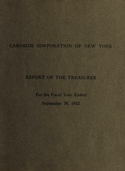 3 Report of the Treasurer, 1922