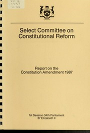 Report on the Constitution Amendment 1987