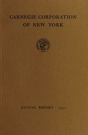 Annual report, 1951