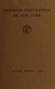 Annual report, 1952
