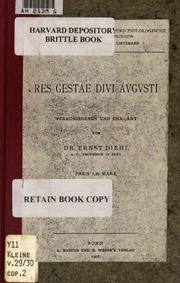 Res gestae divi augusti ex monumentis ancyrano et - Res gestae divi augusti ...