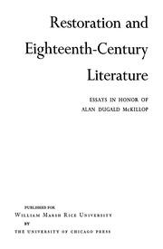 an analysis of restoration and eighteen century literature