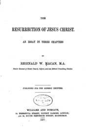 essay on the resurrection of jesus christ