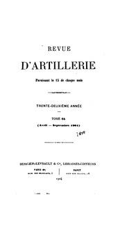 Revue d-artillerie