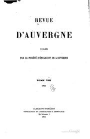 Revue d-Auvergne