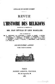 Revue de l-histoire des religions