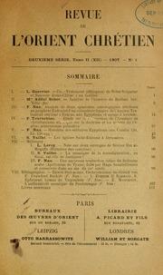 Vol v.12 1907: Revue de l-Orient chrétien