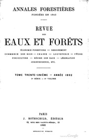 Revue des eaux et for ts cole nationale des eaux et for Eaux et forets