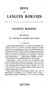 Vol 14: Revue des langues romanes