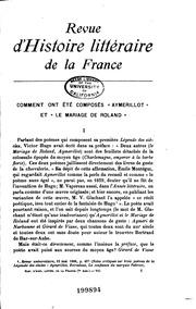 Vol 1-106; v. 1063: Revue d-histoire littéraire de la France