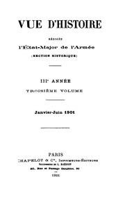 Revue d-histoire rédigée à l-État-major de l-armée