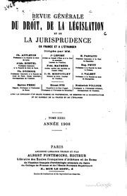 Revue générale du droit, de la législation et de la jurisprudence en France et à l-étranger