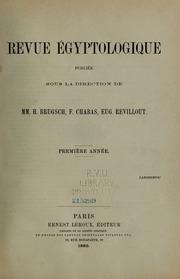 Vol 1: Revue Égyptologique
