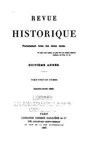 Vol 21: Revue historique