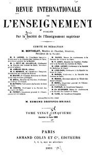 Vol 25: Revue internationale de l-enseignement