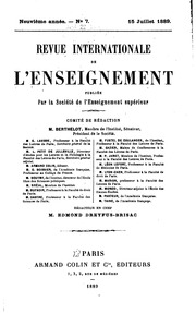 Vol 18: Revue internationale de l-enseignement