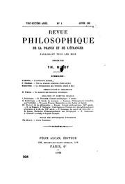 Revue philosophique de la France et de l-étranger