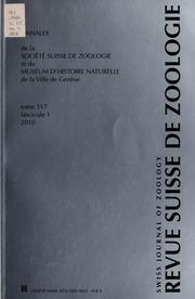 Vol t. 117, no. 1 2010: Revue suisse de zoologie.