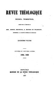Revue Theologique Recueil Trimestriel