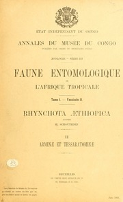 Vol fasc. 2: Rhynchota aethiopica