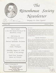 Rittenhouse Society Newsletter