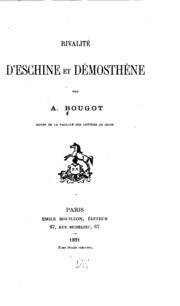 Rivalité d-Eschine et Démosthène