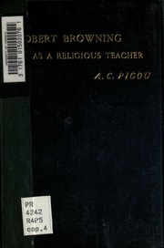 robert browning as a religious teacher being the burney essay for  robert browning as a religious teacher being the burney essay for 1900