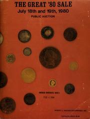 Robert L. Hughes Enterprises announces the great '80 ... public auction and mail bid sale ... [07/18-19/1980]